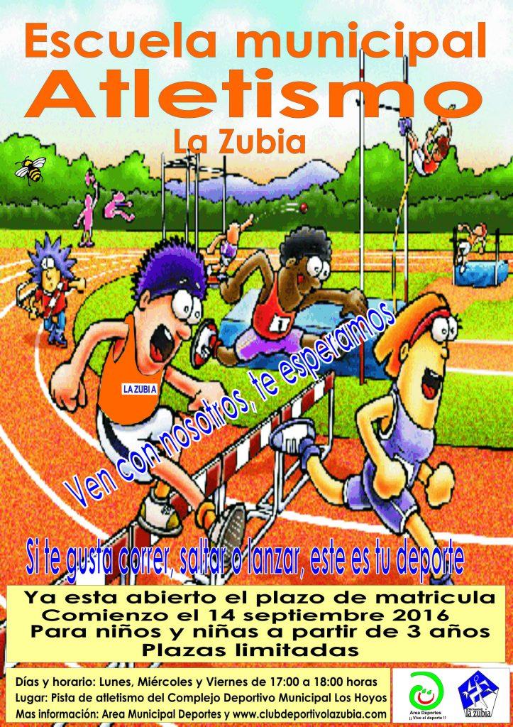 cartel escuela atletismo 2016.17