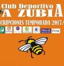 Inscripciones Club Deportivo La Zubia temporada 2017/18.